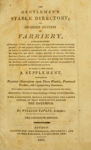 Download The gentleman's stable directory or, modern system of farriery