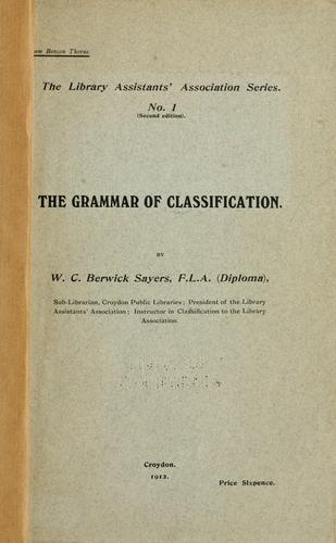 Download The grammar of classification.