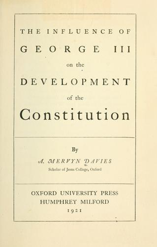 Download The growth of the English constitution from the earliest times