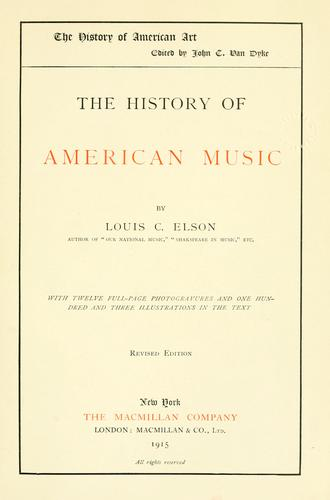 Download The history of American music
