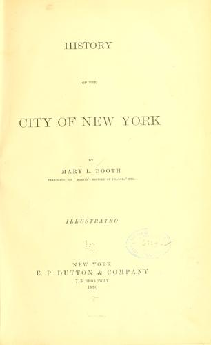 Download History of the city of New York