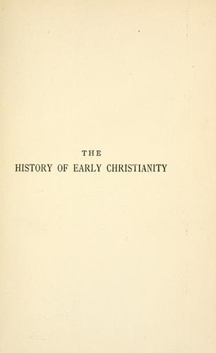The history of early Christianity