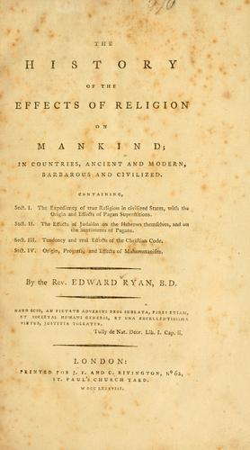 The history of the effects of religion on mankind