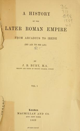 Download A  history of the later Roman empire