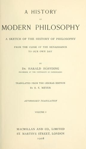 Download A history of modern philosophy