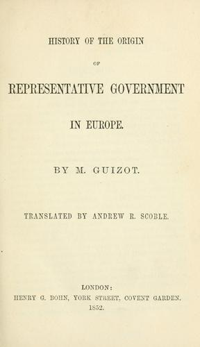 Download History of the origin of representative government in Europe