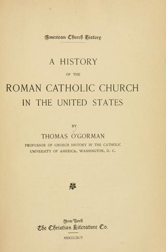 Download A history of the Roman Catholic Church in the United States