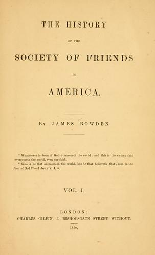 Download The history of the Society of Friends in America.