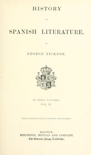 Download History of Spanish literature.