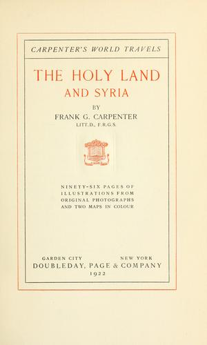 Download The Holy Land and Syria