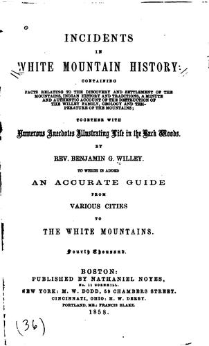 Download Incidents in White mountain history