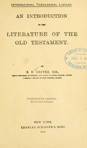 Download An introduction to the literature of the Old Testament