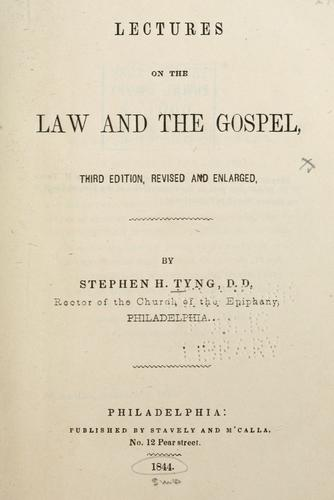 Lectures on the law and the gospel.