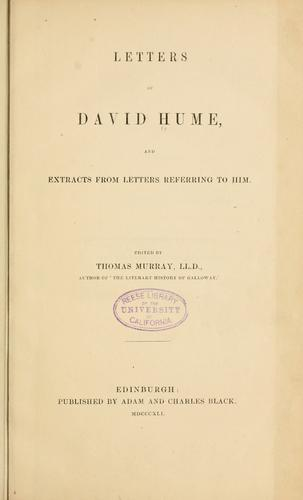 Download Letters of David Hume