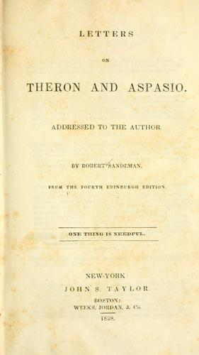 Download Letters on Theron and Aspasio