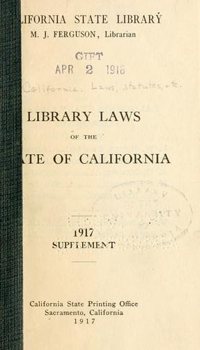 Download Library laws of the state of California.