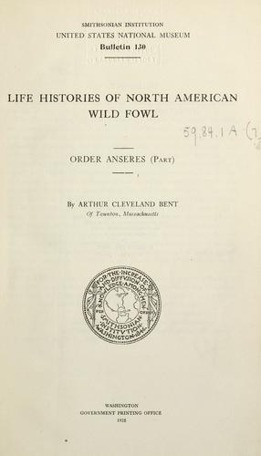 Download Life histories of North American wild fowl
