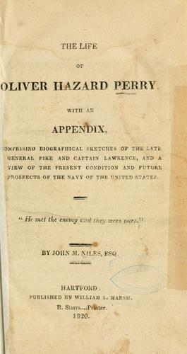 Download The life of Oliver Hazard Perry.
