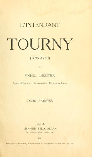 Download L' intendant Tourny (1695-1760)