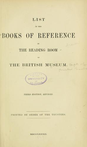 Download A list of the books of reference in the reading room of the British Museum.