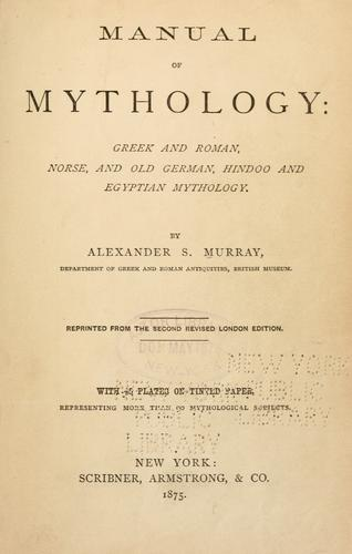 Download Manual of mythology