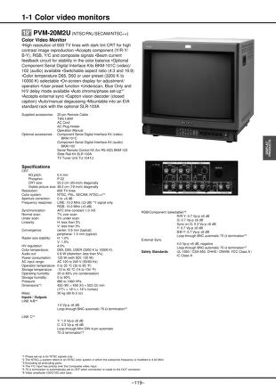Sony Monitor Manual: 2001 Catalog Pages 117 192.PDF : Free ...