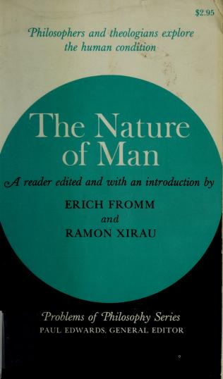 Cover of: The nature of man | Erich Fromm