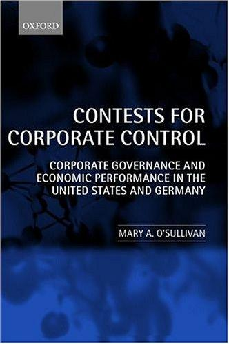Contests for Corporate Control by Mary O'Sullivan