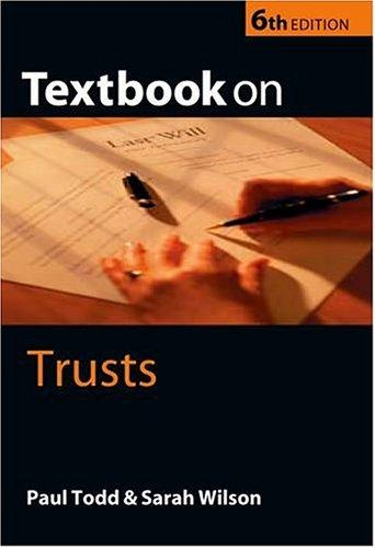 Textbook on Trusts by Paul Todd