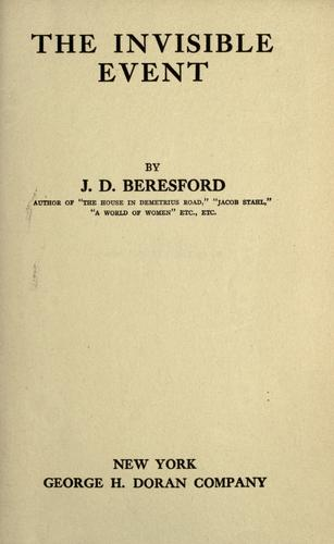 The invisible event by J. D. Beresford