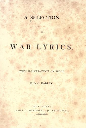 A selection of war lyrics by