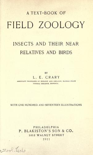 A text-book of field zoology by Lottie Elva Crary
