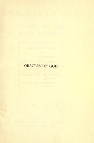Oracles of God by