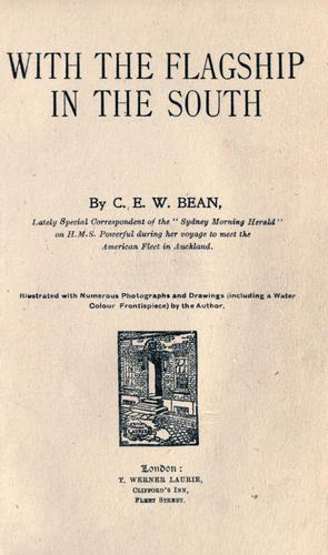 With the flagship in the South by C. E. W. Bean