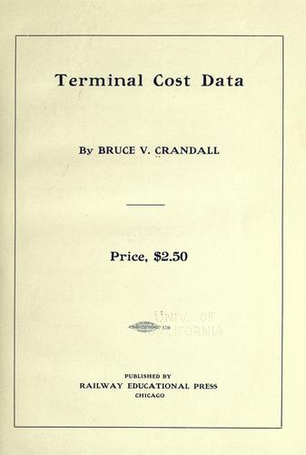 Terminal cost data by Bruce Verne Crandall