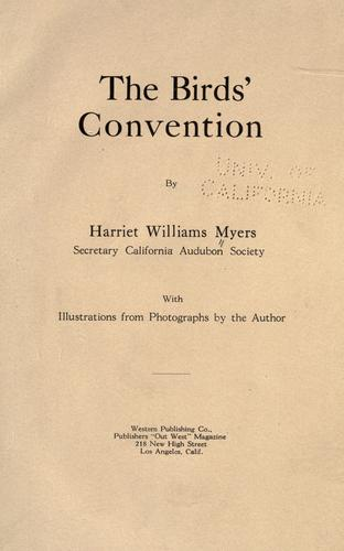 The birds' convention by Harriet Williams Myers
