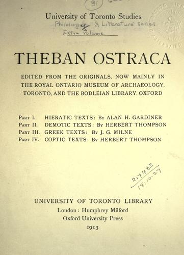 Theban ostraca by