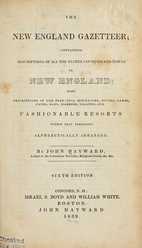 The New England gazetteer