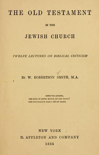 The Old Testament in the Jewish church