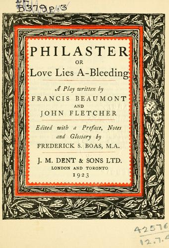 Philaster by Francis Beaumont