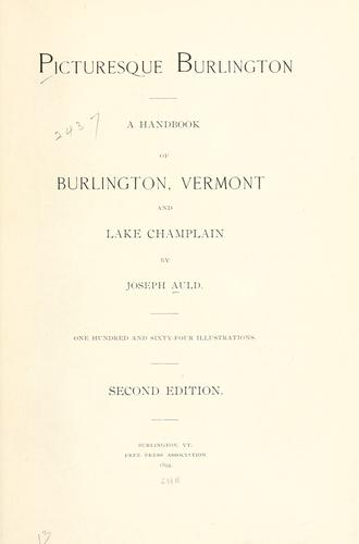 Picturesque Burlington by Joseph Auld