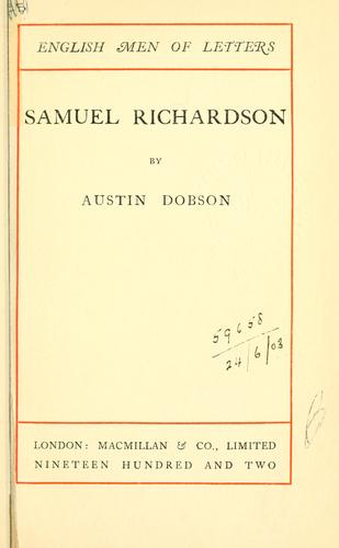 Samuel Richardson by Dobson, Austin