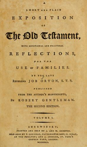 A short and plain exposition of the Old Testament by Job Orton