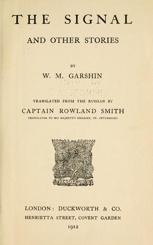 The signal by V. M. Garshin