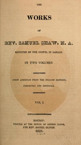 The works by Shaw, Samuel