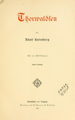 Thorwaldsen by Rosenberg, Adolf