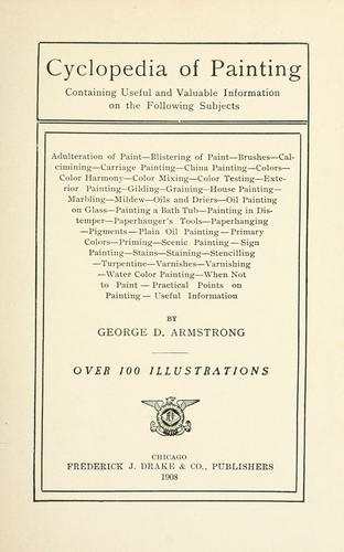 Cyclopedia of painting by George D. Armstrong