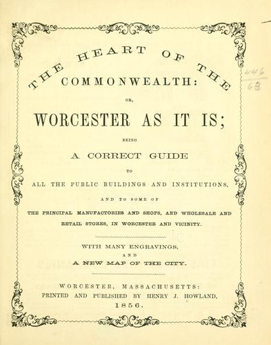 The heart of the commonwealth by Henry Jenkins Howland