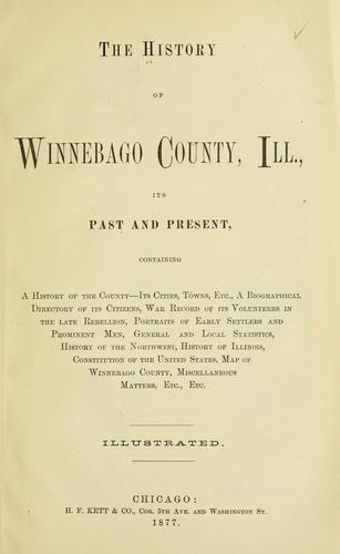 The History of Winnebago County, Ill by