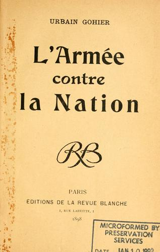 L' armée contre la nation by Gohier, Urbain Degoulet, called